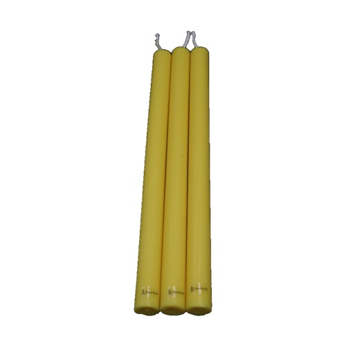 handgemaakte ecologische dinerkaars geel