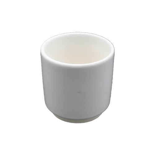 aardewerk pot 13 cm wit