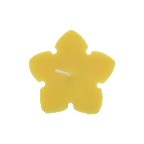 ecologische drijfkaars koolzaadwas bloemvormig