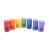 set of 7 chakras symbol pillar candles