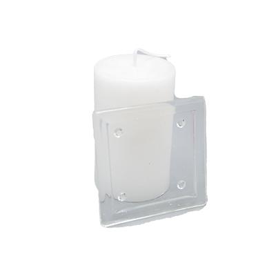 onderzetter voor kaarsen in glas vierkant 9 cm
