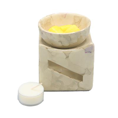 aromabrander geurmelst vierkant beige