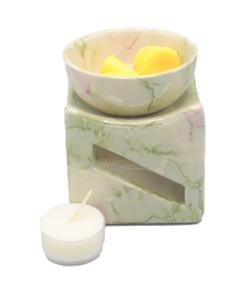 aromabrander geurmelts groen paars vierkant