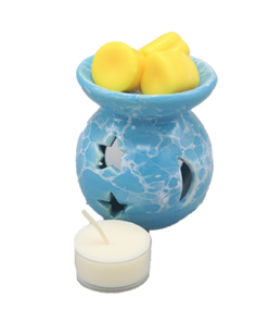 aromabrander voor geurmelts rond blauw