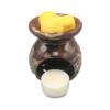 aromabrander voor geurmelts rond bruin