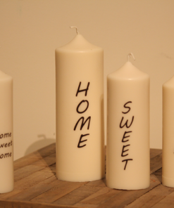 Bougies avec texte a fond pointu