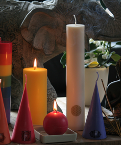 Spiritual candles and wind lights