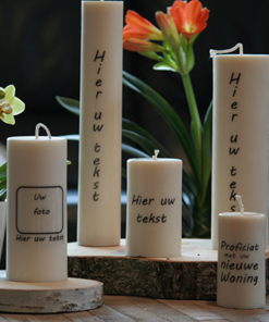 Personalized Pillar candles