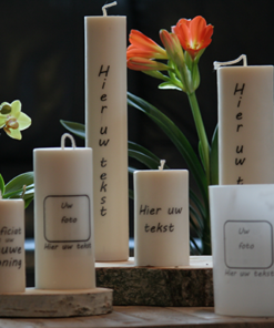 Personalized candles