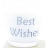 kaars in wit glas met tekst best wishes