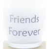 kaars in wit glas met tekst friends forever