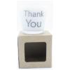 kaars in wit glas met tekst Thank You
