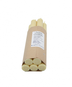 handgemaakte natuurlijke koolzaad dinerkaarsen ivoor